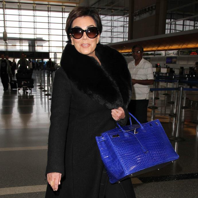 ***Kris Jenner*** <br><br> Same size, same crocodile leather, different colour.