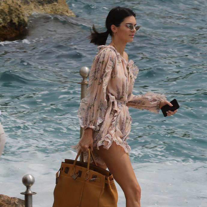 ***Kendall Jenner*** <br><br> Kendall Jenner is almost always spotted out and about with a miniature handbag, but it's rarely a Birkin. Still, she's been seen carrying the 45—the largest Birkin size, which Jane Birkin herself is frequently spotted with—while travelling around the world.
