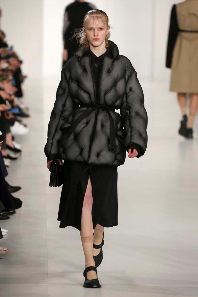 ***Quilted jackets***<br><br> Just in case you had any doubts that the puffa was here to stay. Fashion month even amped it up another level, adding prints into the mix.<br><Br> Maison Margiela autumn/winter '19.