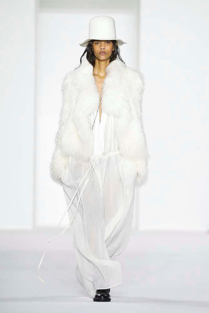 ***Fluffy Coats***<br><br> Level up cold-weather coats by embracing soft-as-butter faux faux, feather details and oversized shapes.<br><br> Ann Demeulemeester autumn/winter '19.
