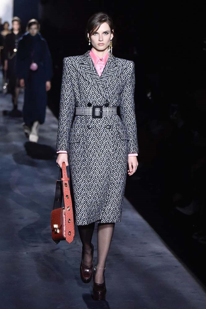 ***Bold Shoulder***<br><br> An '80s redux, designers were embracing the bold, structural shoulder for new collections.<br><bR> Givenchy autumn/winter '19.