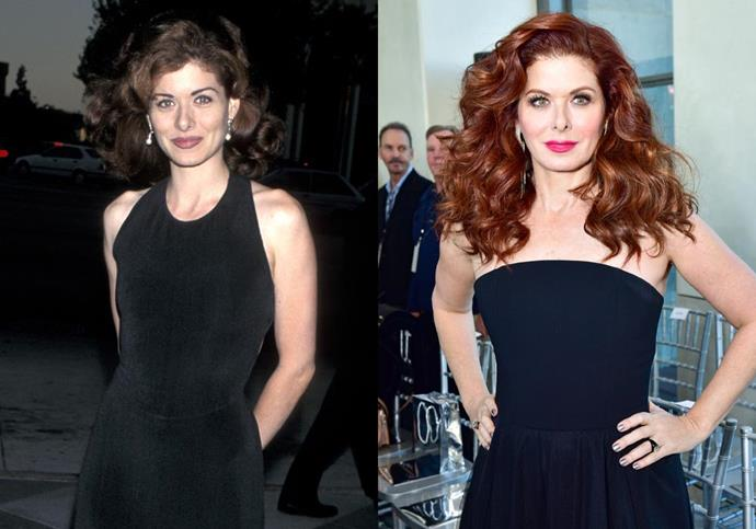 "***Debra Messing*** <br><br> Messing (AKA Grace from *Will & Grace*) is naturally a brunette, but her auburn locks have become one of her major career calling cards. She's also opened up about embracing her natural curls after years of straightening, telling *[Today](https://www.today.com/style/debra-messing-her-curly-red-hair-sexism-hollywood-will-grace-t132337|target=""_blank""