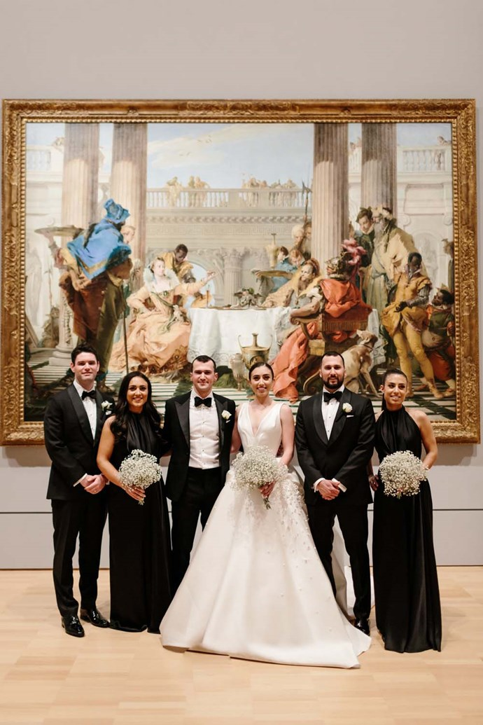 ***On her vision for the day:*** We wanted to create a super special night for our guests and so with the incredible visionaries at The Style Co., we came up with a black tie soiree at the National Gallery.