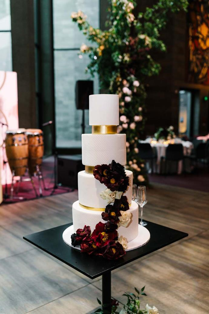 ***On the cake:*** I had seen so many beautiful styles, it was hard to choose. I ended up going with something classic that tied in well with our styling.