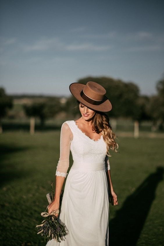 "**Spain: 'Countryside wedding dress'** <br><br> Spanish brides are on the lookout for a wedding dress suited to more rural surrounds, with rustic touches like vintage lace and fuller skirts. <br><br> *Image: [Pinterest](https://www.pinterest.co.uk/pin/560346378633530162/|target=""_blank""