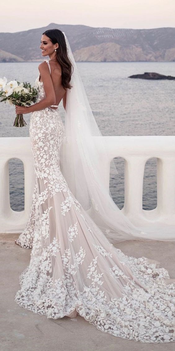 "**Mexico: 'Mermaid style wedding dress'** <br><br> The mermaid dress, which is fitted up top and then fans out below the hips, is apparently popular amongst Mexican brides. <br><br> *Image: [Pinterest](https://www.pinterest.com.mx/pin/454863631111552843/|target=""_blank""