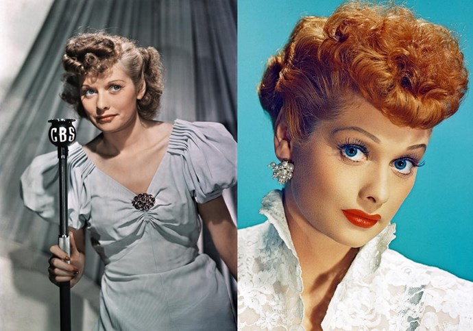 ***Lucille Ball*** <br><br> Ball's show *I Love Lucy* might have made her one of the most famous comedic actresses of all time, but what many forget is that she was naturally brunette before trying out blonde, and then ginger-coloured hair.