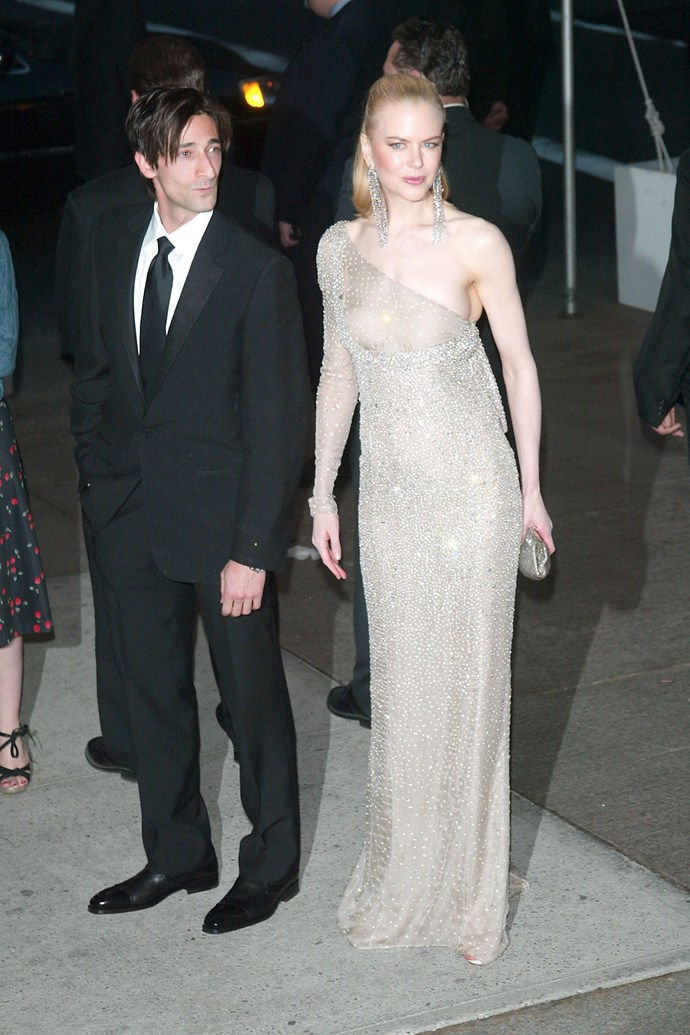 **Nicole Kidman at the Met Gala (2003)** <br><br> Nicole Kidman's Gucci by Tom Ford gown was undeniably a classic, but the sheer panel across her chest nearly exposed all—and proved the perfect revenge dress after her tumultuous divorce from Tom Cruise.