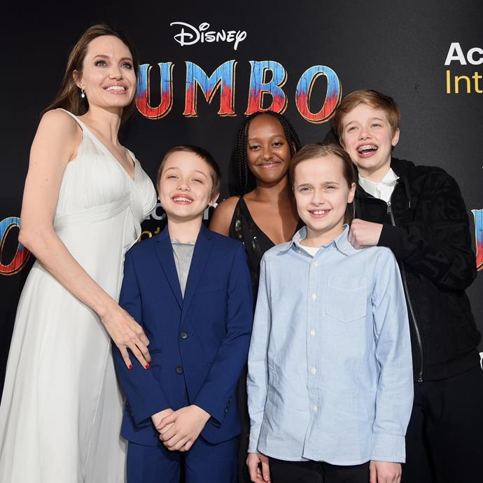 Angelina Jolie and her children on March 11, 2019.