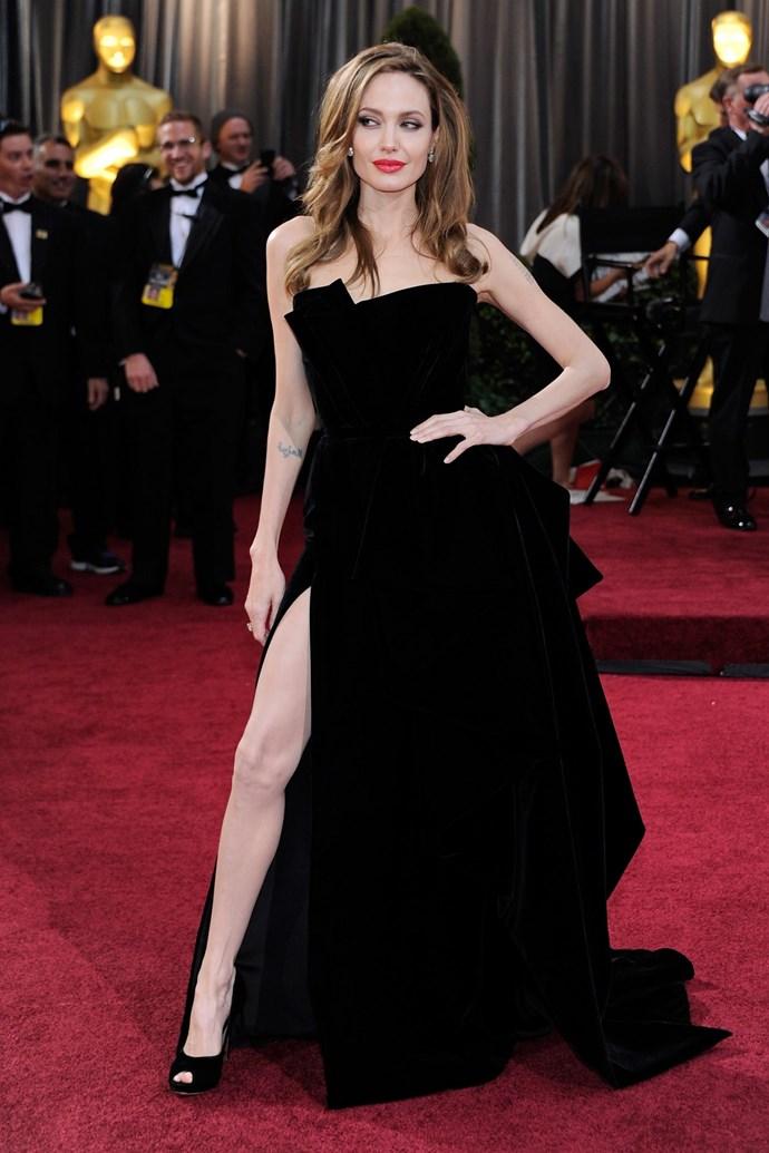 Jolie at the 2012 Academy Awards.