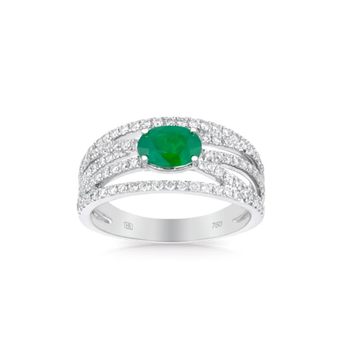 "**The Vibe: Just Add Diamonds** <br><br> 18-carat white gold ring with oval-cut natural emerald and diamonds, $8,999 at [Hardy Brothers](https://www.hardybrothers.com.au/products/9ITHEB300|target=""_blank""
