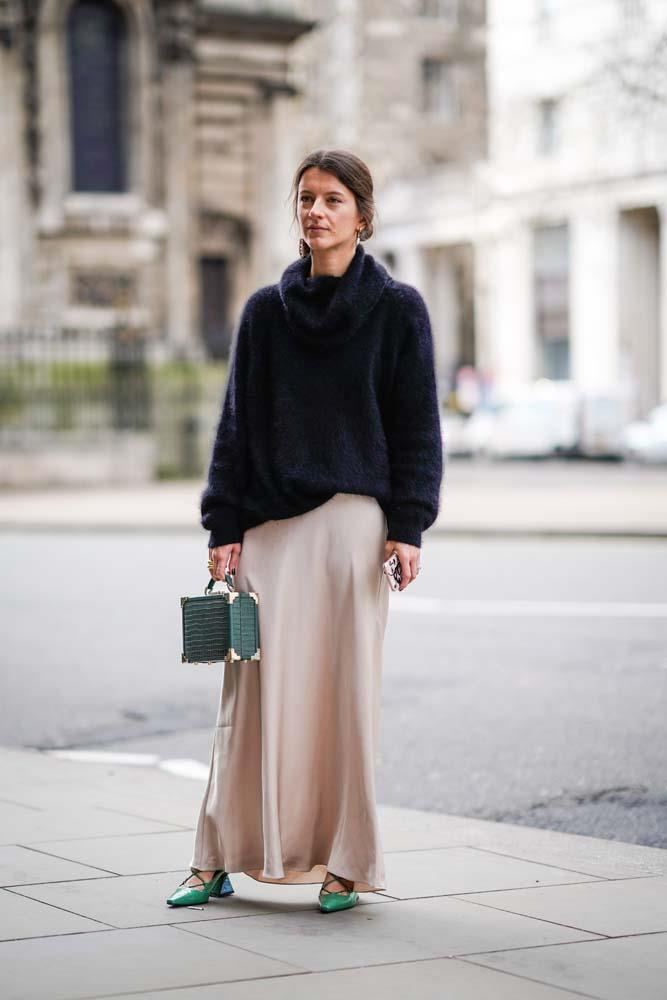 ***Don't skirt the issue***<br><br> Just because the weather is cooler, doesn't mean you can't wear your usual rotation of skirts. Paired with a chunky knit or on-trend calf-high boot to warm up, skirts can be main feature.