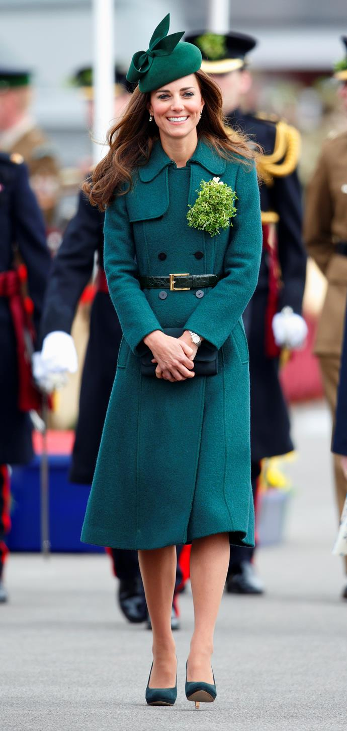 Attending the St Patrick's Day Parade at Mons Barracks in 2014.
