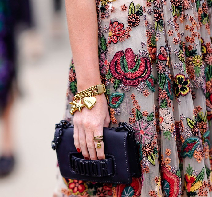 """**A 'Grown-Up' Charm Bracelet** <br><br> Charm bracelets don't have to be relegated to your childhood jewellery box. """"Foundrae makes a more 'grown up' take on the charm bracelet,"""" Wong says. """"I love the shape of the chain on [this particular style](https://foundrae.com/bracelets/classic-fob-clip-with-blue-crescent-disk-bracelet.html target=""""_blank"""" rel=""""nofollow"""")."""" <br><br> *Image: Getty*"""