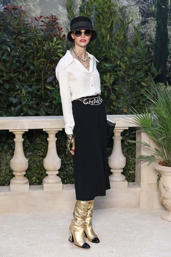 Sasha Luss at Chanel <br><br> Image: Getty