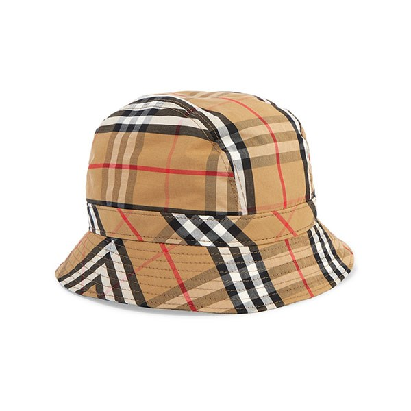 "**Buy:** <br><br> Hat by Burberry, $480 at [Net-a-Porter](https://www.net-a-porter.com/au/en/product/1131833/Burberry/checked-cotton-canvas-bucket-hat|target=""_blank""