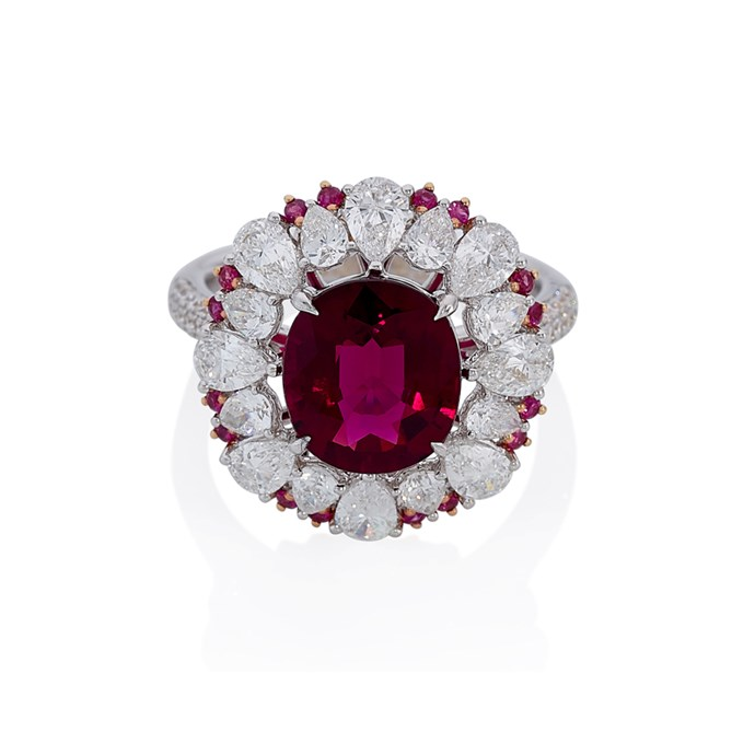 "White and rose gold ring, POA at [Cerrone](https://www.cerrone.com.au/high-jewellery/18ct-white-and-rose-gold-rubelite-diamond-and-ruby-ring/|target=""_blank""