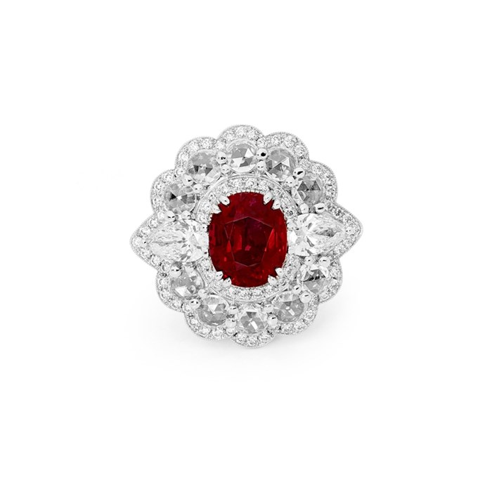 "Ruby and diamond ring, POA at [Matthew Ely](http://www.matthewely.com.au/products/ruby-and-diamond-imperatrice-ring/5925/?terms=46|target=""_blank""