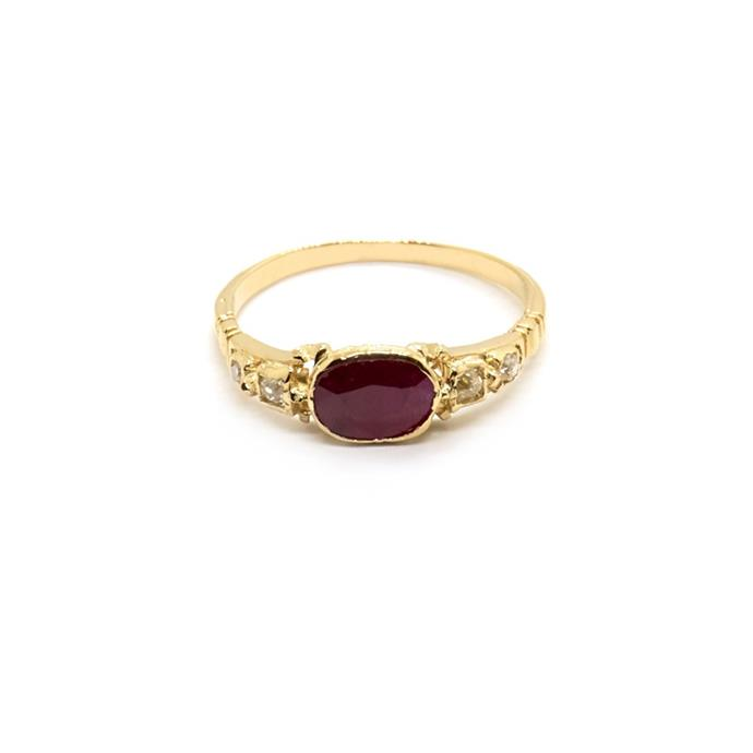 "Art Deco ruby and diamond ring, $2,500 at [Natalie Marie Jewellery](https://www.nataliemariejewellery.com/collections/engagement-rings/products/elsie-vintage-art-deco-ruby-diamond-ring|target=""_blank""