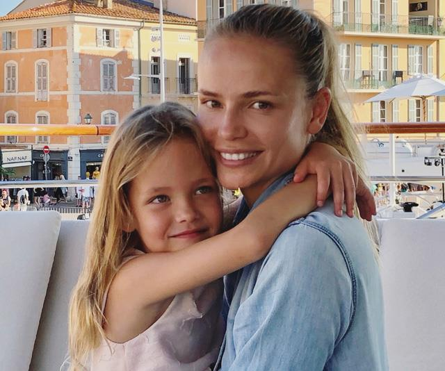 **Natasha Poly**  <br><br> Russian supermodel Natasha Poly, 33, is mother to daughter Aleksandra Christina Bakker, her first child with her husband,Dutch businessman Peter Bakker. In November 2018, Poly also announced she was pregnant with a second child.