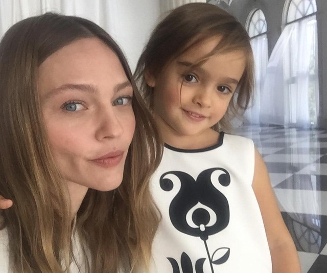 """**Sasha Pivovarova** <br><br> Pivovarova is mother to daughter Mia Isis, 6, her first child with husband Igor Vishnyakov, a photographer. """"Becoming a mother has brought me so much joy,"""" Pivovarova, 34, has said. """"We paint together and play with arts and crafts. It's my very special universe with her that gives me incredible amounts of happiness."""