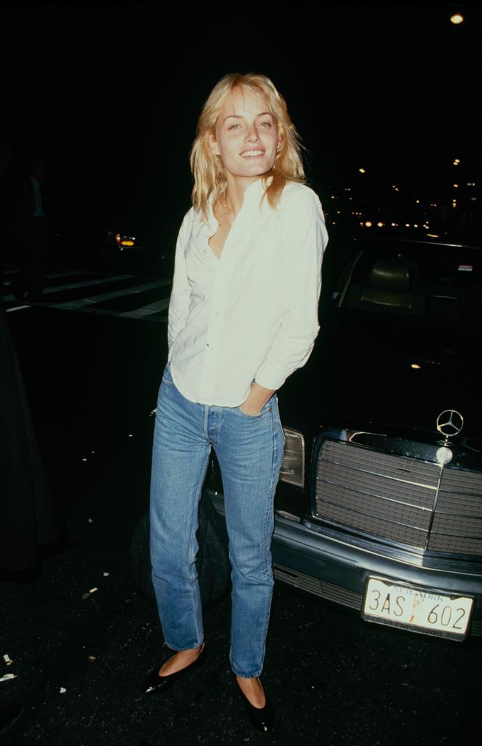 Amber Valetta in 1990.