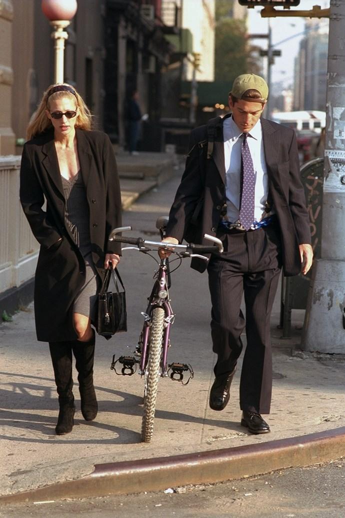Carolyn Bessette-Kennedy and John F Kennedy Jr in 1996.