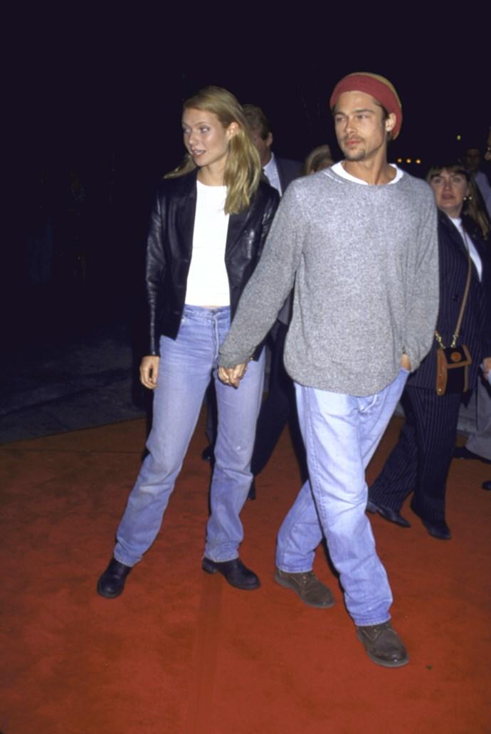 Gwyneth Paltrow and Brad Pitt in 1995.