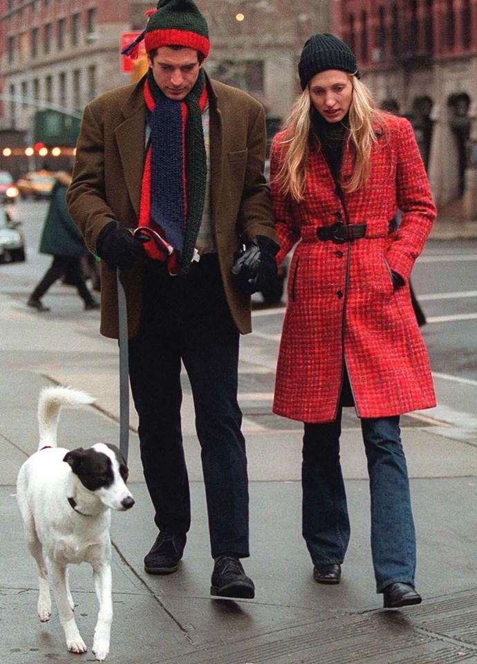 John F Kennedy Jr and Carolyn Bessette-Kennedy in 1997.