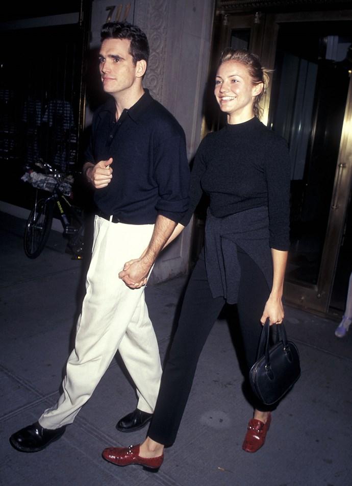 Matt Dillon and Cameron Diaz in 1990.