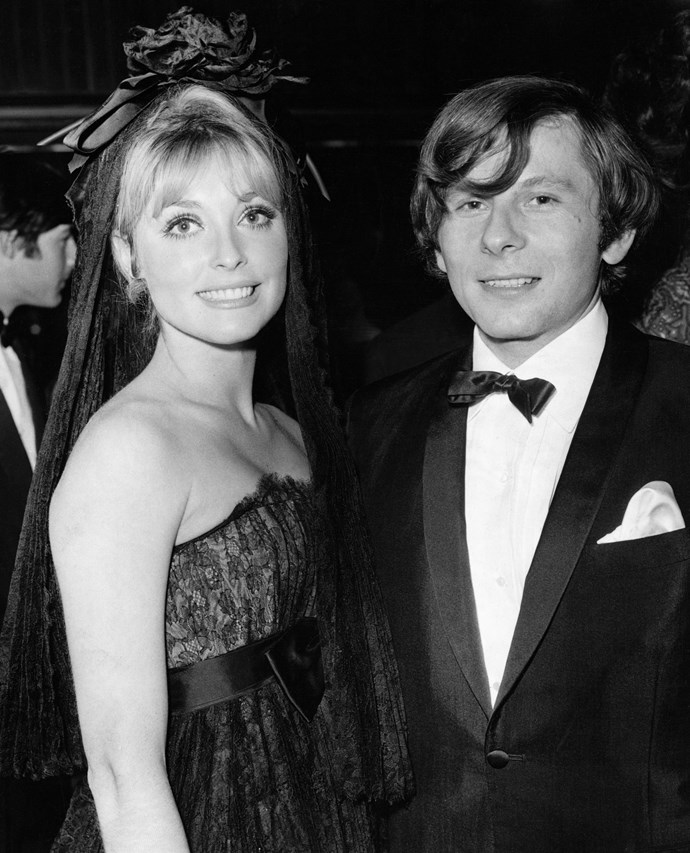 At premiere in a gothic bridal look in 1966.