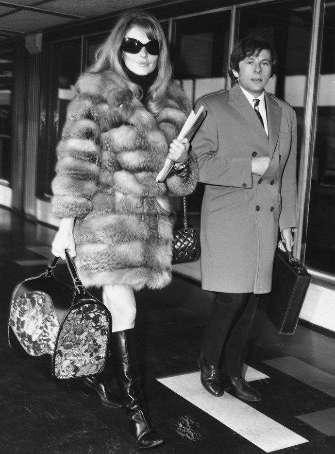 At the airport in 1967.