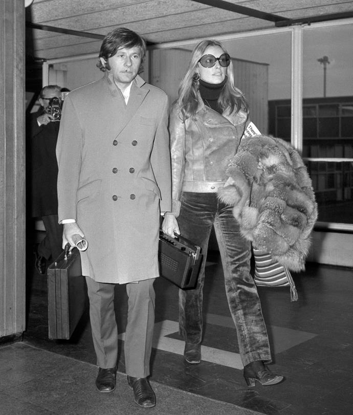 Arriving in London with Polanski in 1969.