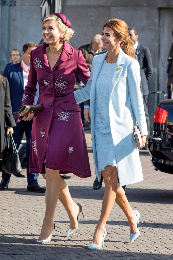 With Queen Maxima of the Netherlands in 2017.