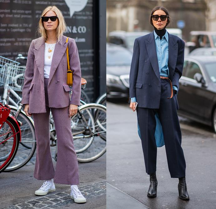 """***The summer suit***<br><Br> While t-shirts, sneakers and tanks were the styling accessories of choice for suits in summer, you need only add layers to level it up to winter. """"Suits are perfect for winter. Pair with a shirt in a heavy duty fabric—cashmere or merino wool—and a heavy boot."""""""