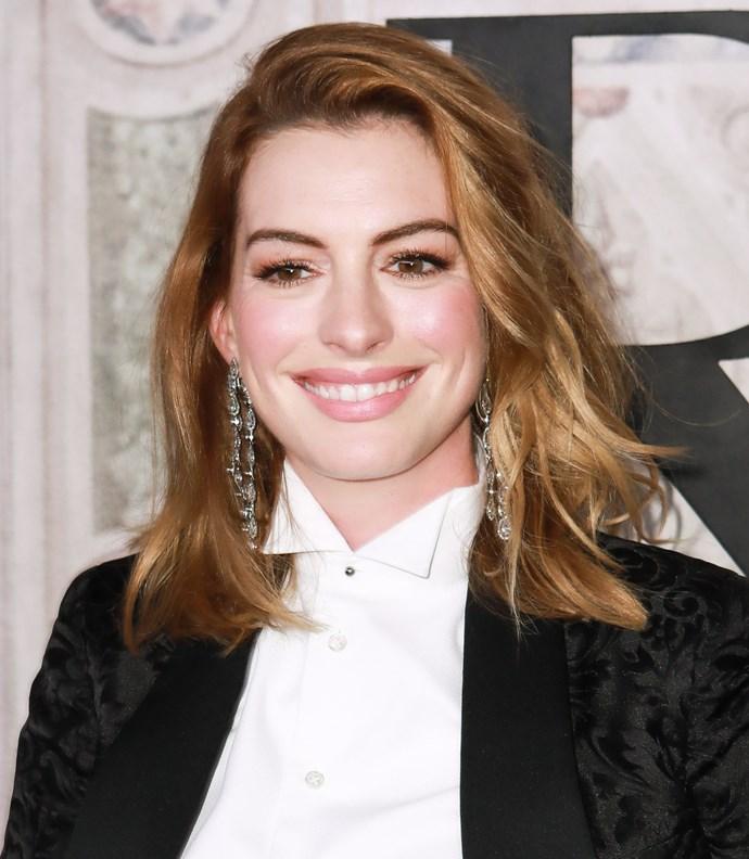 **BERRY BLONDE** <br><br> Anne Hathaway <br><br> *Image: Getty*