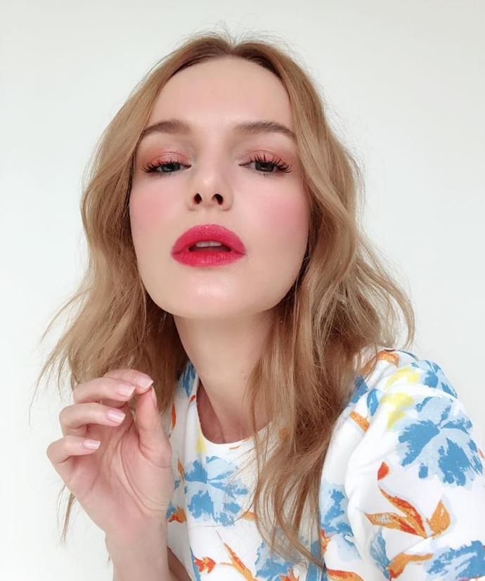**BERRY BLONDE** <br><br> Kate Bosworth <br><br> *Image: @katebosworth*