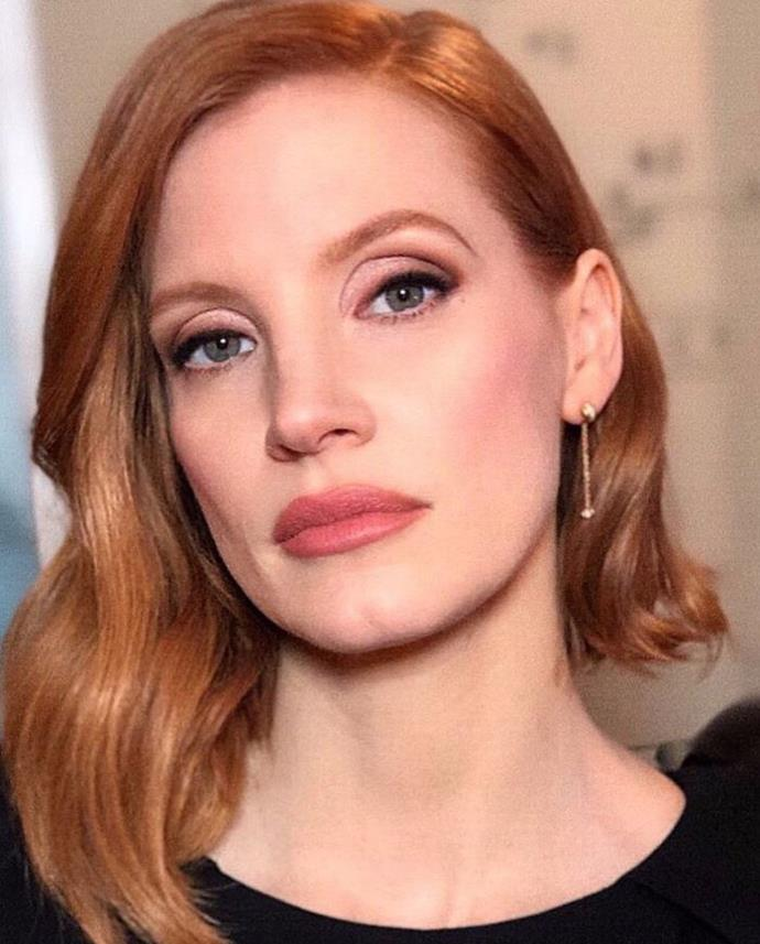 **COPPER RED** <br><br> Jessica Chastain <br><br> *Image: @cwoodhair*