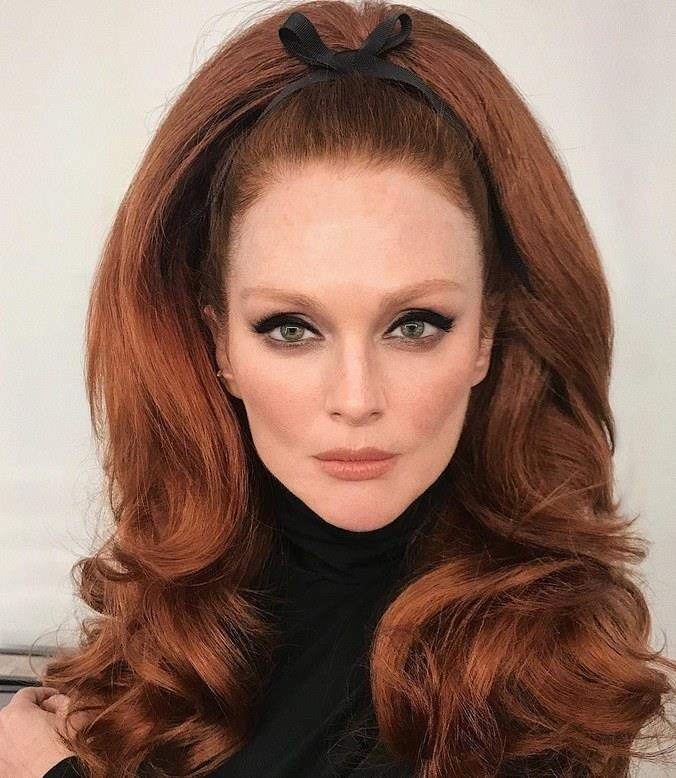**FIRE RED** <br><br> Julianne Moore <br><br> *Image: @hungvanngo*