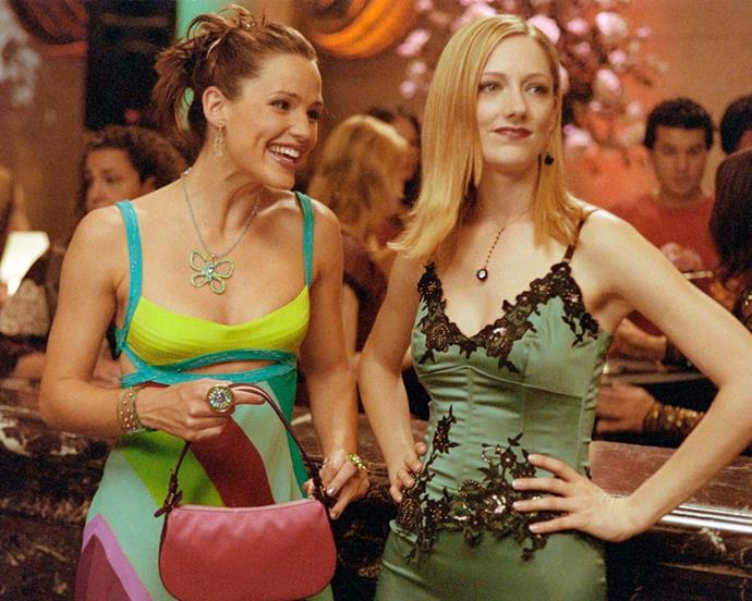 Although it was meant as a gag, Jennifer Garner's *13 Going on 30* look—twisted buns, blue eyeshadow and too much blush—was endearing enough to endure.