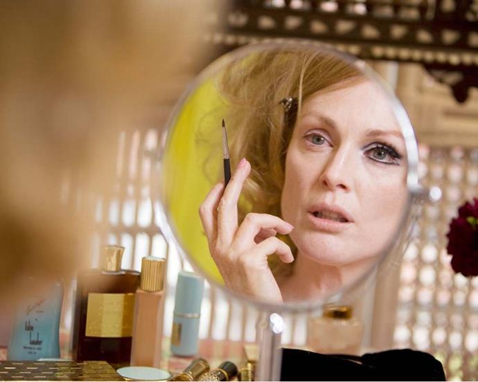 From Oscar-winner Julianne Moore to model cameo Aline Weber, all the beauty looks in *A Single Man* were sultry, mod-ish and perfectly executed.