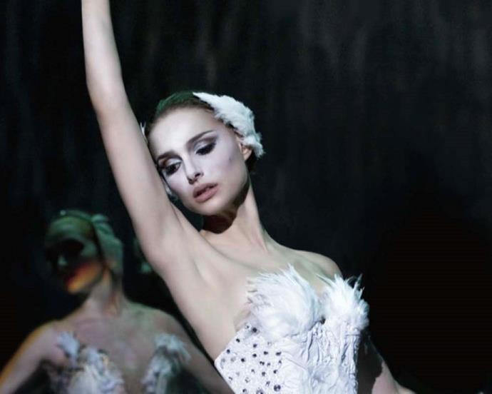 Although most think of the Black Swan in the movie's title, Natalie Portman's elaborate costume as The Swan Queen brought theatrical beauty to the forefront.