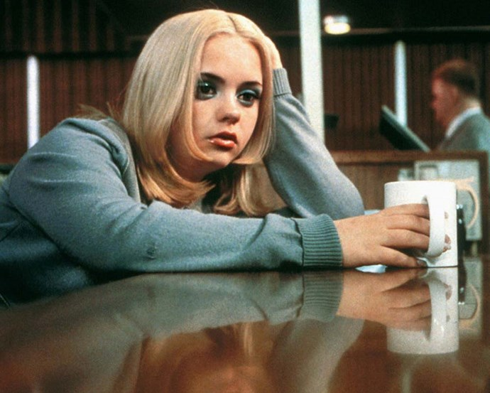 Christina Ricci's blue eyeshadow and perfectly-'90s layered cut in *Buffalo '66* (1998) has its own cult following.