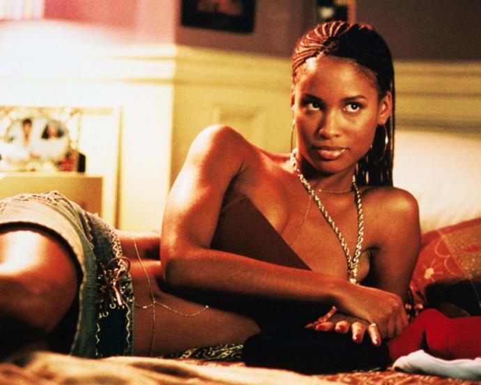 Jessica Alba's wild curls were a feature on their own, but our vote for best beauty in *Honey* goes to Joy Bryant playing Gina.