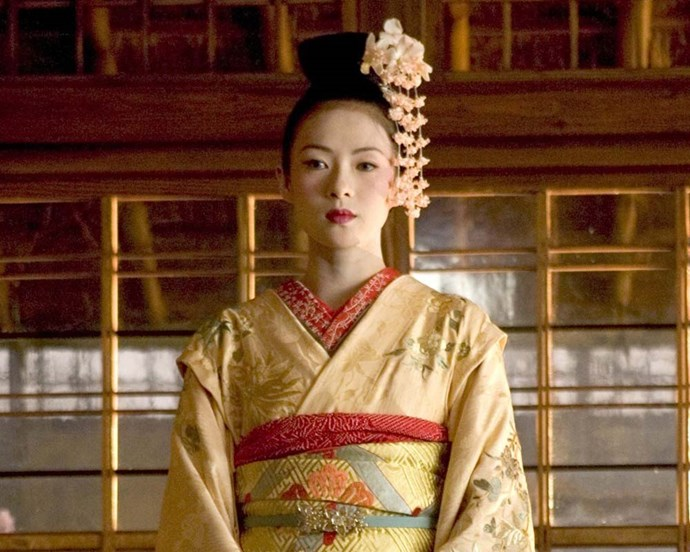 Colleen Atwood's exquisite costume and makeup design in *Memoirs of a Geisha* won her an Academy Award.
