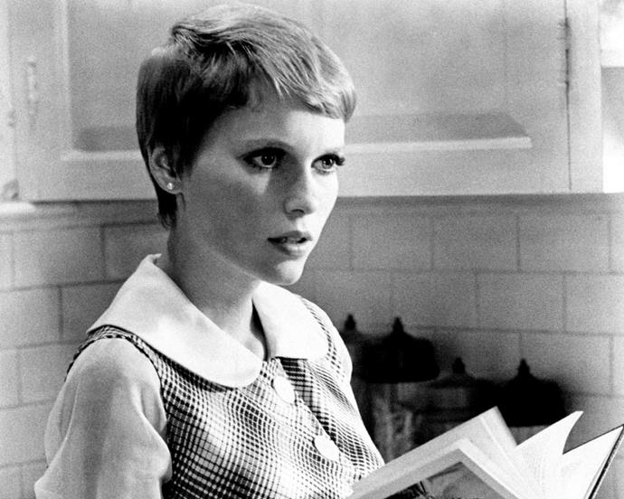 Mia Farrow made her close-cropped pixie iconic in *Rosemary's Baby*.