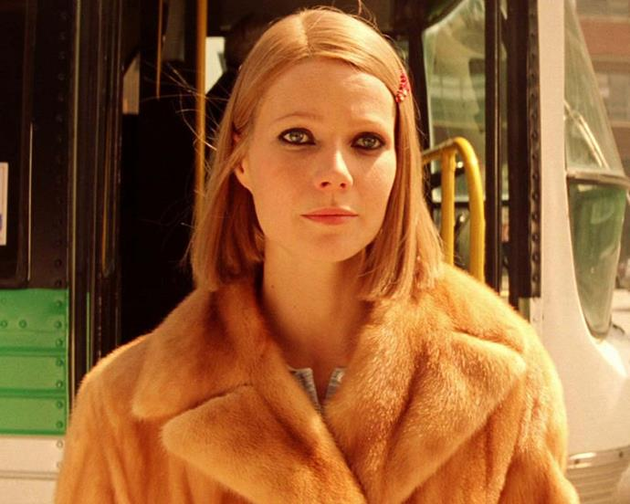 A sleek bob, kohl-rimmed eyes and a barrette might be an unusual combination, but Gwyneth Paltrow makes them click in *The Royal Tenenbaums.*