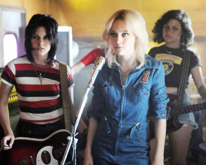 The rock 'n' roll haircut that turned Kristen Stewart from *Twilight* darling to indie maven, plus Dakota Johnson's foray into platinum, *The Runaways* made a splash.