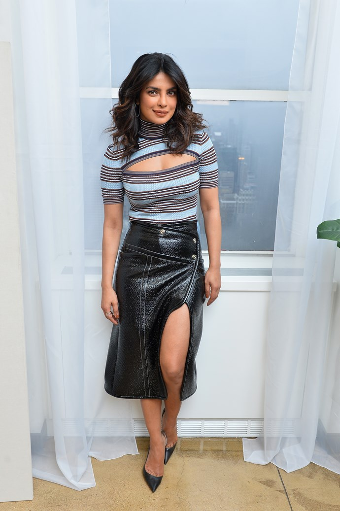 """**Exercise** <br><br> Still, Chopra is insistent that she's not too stringent on the exercise front. """"I have great Indian genes!"""" she told *[E! Online](https://www.eonline.com/fr/news/733032/priyanka-chopra-s-workout-routine-will-shock-you-plus-find-out-about-her-go-to-beauty-and-fashion-tips