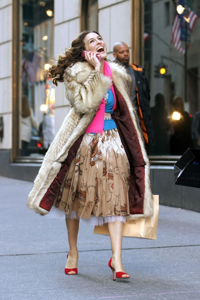 Red peep toe d'Orsay heels.